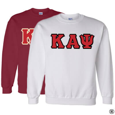 Kappa Alpha Psi Crewneck Sweatshirt Package - Gildan 12000 - TWILL