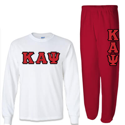 Kappa Alpha Psi Longsleeve / Sweatpants Package - TWILL