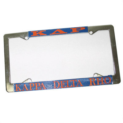 Kappa Delta Rho License Plate Frame - Rah Rah Co. rrc