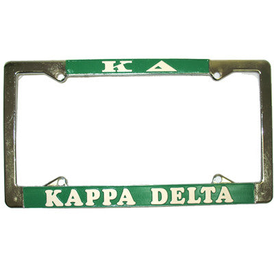 Kappa Delta License Plate Frame - Rah Rah Co. rrc