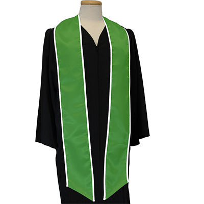 Greek Multi-Color Printed Graduation Stole with Crest - DIG
