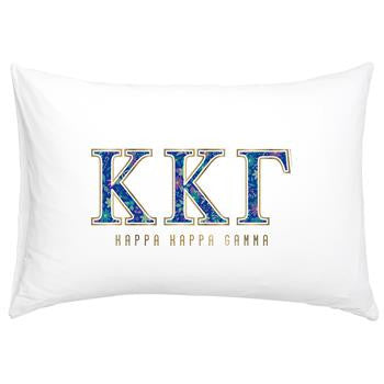 Kappa Kappa Gamma Floral Cotton Pillowcase - Alexandra Co. a3016