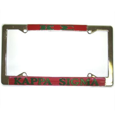 Kappa Sigma License Plate Frame - Rah Rah Co. rrc