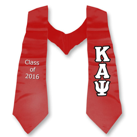 Kappa Alpha Psi Graduation Stole with Twill Letters - TWILL