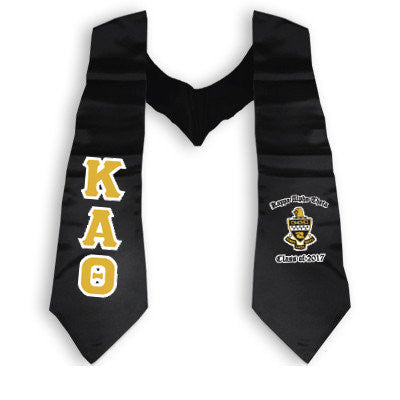 Greek Printed Graduation Stole with Crest - DIG