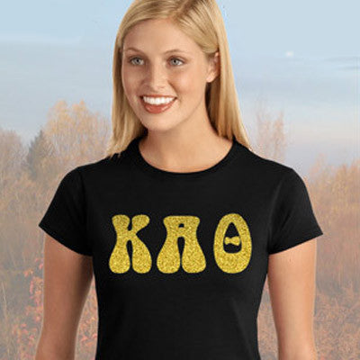 Kappa Alpha Theta Ladies' Softstyle Printed T-Shirt - Gildan 6400L - CAD