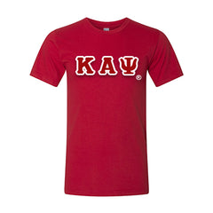 Kappa Alpha Psi American Apparel Jersey Tee with Twill - American Apparel 2001W - TWILL