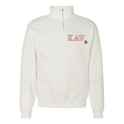 Kappa Alpha Psi Fraternity Embroidered Quarter-Zip Pullover - Jerzees 995M - EMB