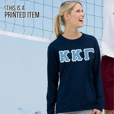 Custom Printed Sorority Long-Sleeve T-Shirt - Gildan 2400 - DIG