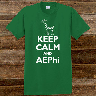 Keep Calm and AEPhi Printed T-Shirt - Gildan 5000 - CAD