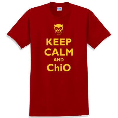 Keep Calm and ChiO Printed T-Shirt - Gildan 5000 - CAD