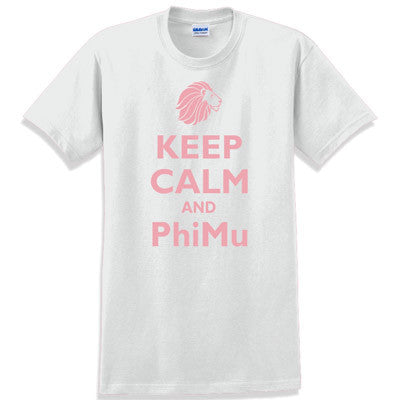 Keep Calm and PhiMu Printed T-Shirt - Gildan 5000 - CAD
