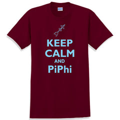 Keep Calm and PiPhi Printed T-Shirt - Gildan 5000 - CAD