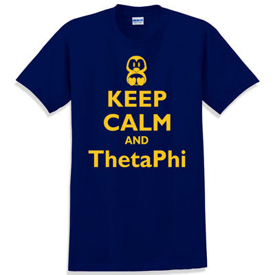 Keep Calm and ThetaPhi Printed T-Shirt - Gildan 5000 - CAD