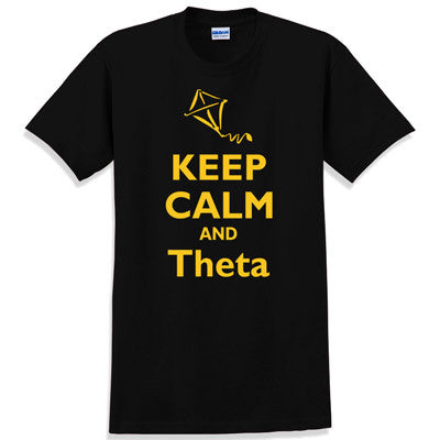 Keep Calm and Theta Printed T-Shirt - Gildan 5000 - CAD