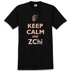 Keep Calm and ZChi Printed T-Shirt - Gildan 5000 - CAD