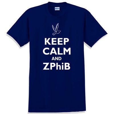 Keep Calm and ZPhiB Printed T-Shirt - Gildan 5000 - CAD