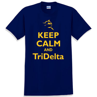 Keep Calm and TriDelta Printed T-Shirt - Gildan 5000 - CAD