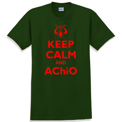 Keep Calm and AChiO Printed T-Shirt - Gildan 5000 - CAD