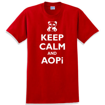 Keep Calm and AOPi Printed T-Shirt - Gildan 5000 - CAD