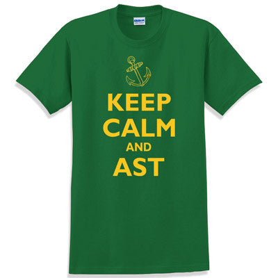 Keep Calm and AST Printed T-Shirt - Gildan 5000 - CAD