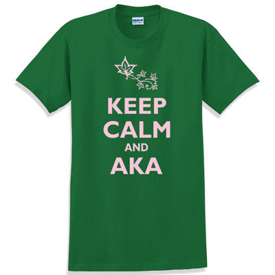 Keep Calm and AKA Printed T-Shirt - Gildan 5000 - CAD
