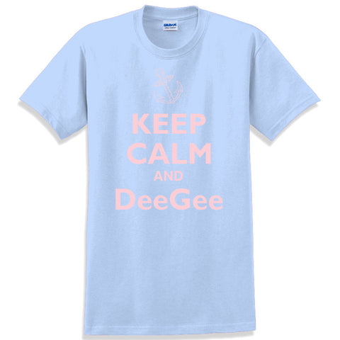 Keep Calm and DeeGee Printed T-Shirt - Gildan 5000 - CAD
