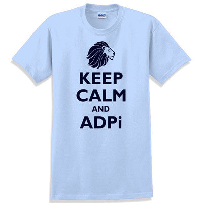 Keep Calm and ADPi Printed T-Shirt - Gildan 5000 - CAD