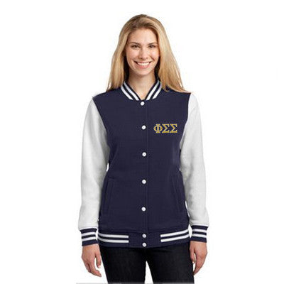 Sorority Embroidered Varsity Letterman Jacket - Sport-Tek LST270 - EMB