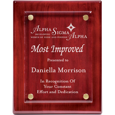 Awards - Plaques - Rosewood Piano Finish Floating Plaque - FPA1810 - LZR