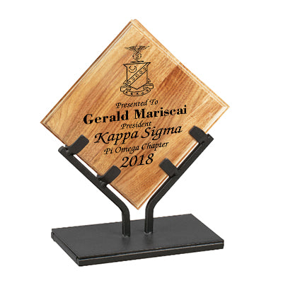 Awards - Plaques - Award with Stand - Bamboo Plaque with Iron Stand - WP812HA - LZR