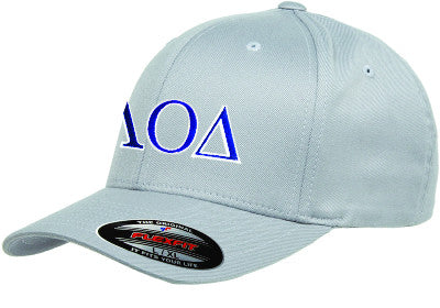 Lambda Omicron Delta Flexfit Fitted Hat - Yupoong 6277 - EMB