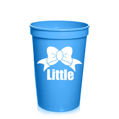 New Big & Little Plastic Stadium Cup with Bow