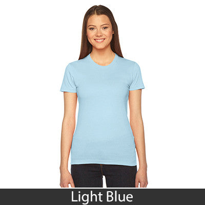Sigma Sigma Sigma Embroidered Jersey Tee - American Apparel 2102 - EMB