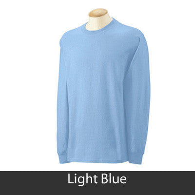 Alpha Delta Eta Longsleeve T-Shirt with Twill - Gildan 2400 - TWILL