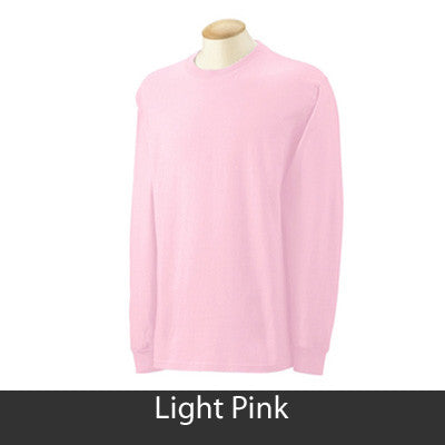 Alpha Kappa Alpha Longsleeve T-Shirt with Twill - Gildan 2400 - TWILL