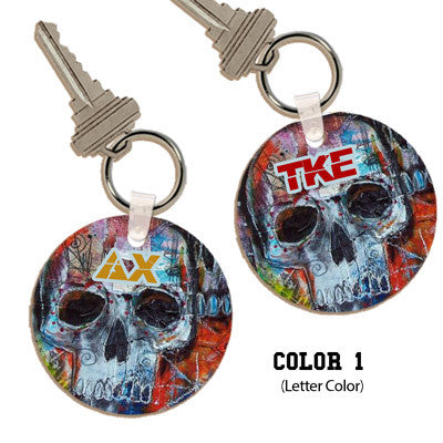 Greek Painted Skull Keychain - UN4411 - SUB