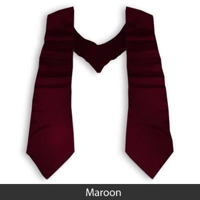 Zeta Sigma Chi Graduation Stole with Twill Letters - TWILL