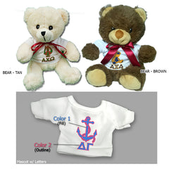 Sorority Mascot Teddy Bear - 25001-2 - SUB