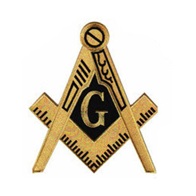 Masons Embroidered Patch Crest - 10-inch