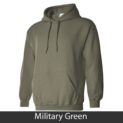 Greek Group and State Printed Hooded Sweatshirt - Gildan 18500 - CAD