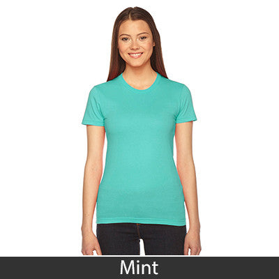 Phi Mu Embroidered Jersey Tee - American Apparel 2102W - EMB