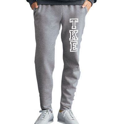 Varsity Print Fraternity Jogger Pants with Vertical Letters - Jerzees 975MPR - CAD