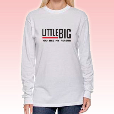 Big & Little You Are My Person Printed Long Sleeve Tee - Gildan 8400 - SUB