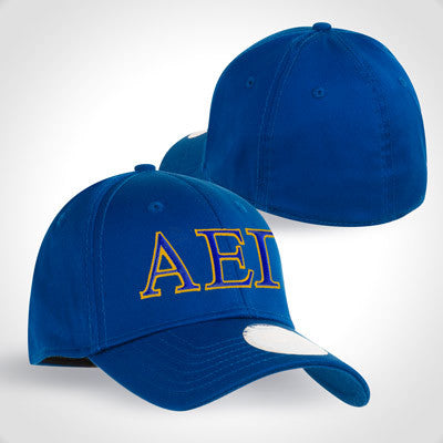 buy popular dff81 1215c ... Greek New Era Fitted Cap with 2-Color Embroidery - New Era NE1000 - EMB