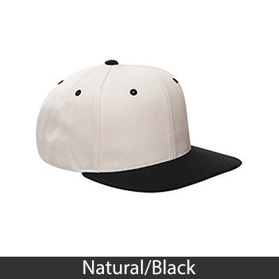 Embroidered 3D Snapback Flat Visor Sorority Cap - Yupoong 6089 - EMB