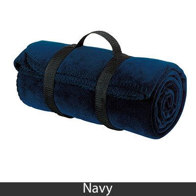 Delta Delta Delta Fleece Blanket - Port and Company BP10 - EMB