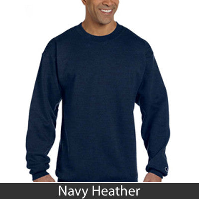 Sorority Champion Crewneck Sweatshirt with Twill - Champion S600 - TWILL