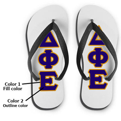 Custom Sorority Flip-Flops - SBL100 - SUB