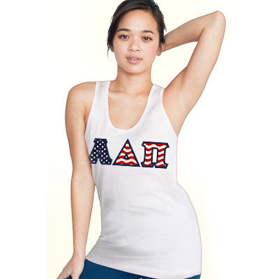 Stars & Stripes Sorority Unisex Tank Top with Twill - Next Level 3633 - TWILL